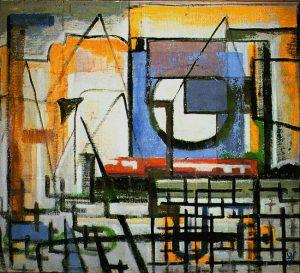 Abstrakte ungegenständliche Malerei . Wille Schenk 1960